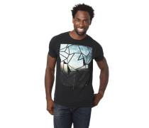 T-Shirt reine Baumwolle Rundhalsausschnitt geometrischer Print
