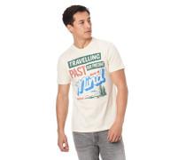 T-Shirt Front-Print Flammgarn reine Baumwolle