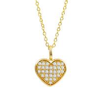 Kette mit Anhänger 375 Gelbgold mit 29 Diamanten, zus. ca. 0,25 ct.