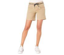 Shorts Regular Fit Bindegürtel Eingrifftaschen