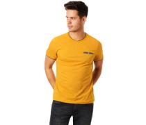 Shirt, Kurzarm, geringelt, mit zuknöpfbarer Brusttasche, für Herren, dunkel, M