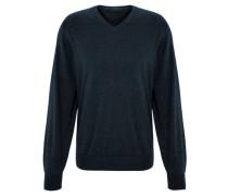 Pullover Feinstrick Pima-Baumwolle V-Ausschnitt