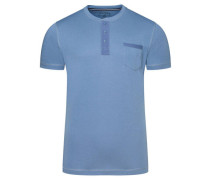 T-Shirt, Baumwollmischung, Knopfleiste