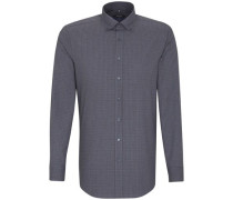 Business Hemd Tailored Langarm Button-Down-Kragen Karo