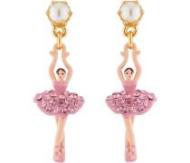 Ohrhängerini Ballerina und Kristall Tutu