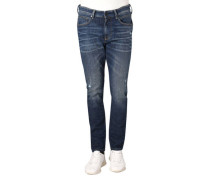 Jeans, Slim Fit, Waschung, Falten, Destroyed-Look