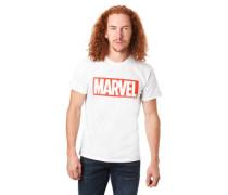 T-Shirt Schrift-Print Baumwolle