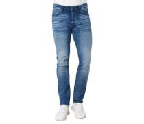 Jeans mit Waschung, Slim Fit, denim, W36/L34