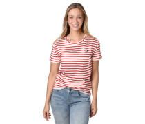 T-Shirt Streifen Baumwolle Rundhalsausschnitt