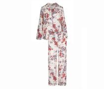 Satin-Pyjama Flowerpower