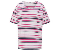 T-Shirt Halbarm Baumwoll-Mix gestreift