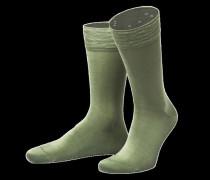 Socken, uni, gelb