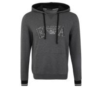 Loungewear Hoodie, Kängurutasche, gummierte Label-Applikation