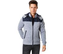 Sweatshirt-Jacke, Kapuze it Reißverschluss, Stehkragen, eliert, für Herren