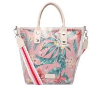 """Handtasche """"Elina"""", Synthetik, transparente Außenlage, Tropical Print"""