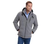 Kassische Jacke, abnehmbare Kapuze, meiert, diverse Taschen