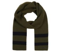 Schal, reine Wolle, Ripp-Strick, Streifen-Details