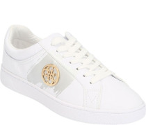 Sneakers, low, goldene Streifen, Schnürung,