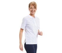 Polo-Shirt Baumwoll-Mix Anker-Print für