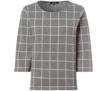 Sweatshirt mit Rundhalsausschnitt /weiß kariert