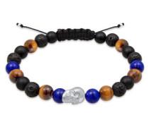 Armband Skull Tigerauge Onyx Lava Lapis Lazuli 5