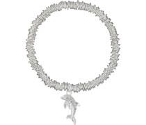 Stretch-Armband Delfin mit Kristall