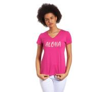 T-Shirt Slogan Seiten-Streifen Glitzer
