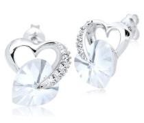 Ohrringe Herz Liebe Swarovski® Kristalle 5 Silber Honey