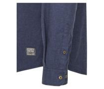 Casual-Hemd regular fit Langarm Covered-Button-Down-Kragen Uni midnight