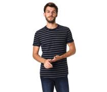 T-Shirt Baumwoll-Mix gestreift