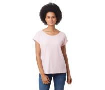 T-Shirt überschnittene Schulter Bänder-Detail Ärmel-Umschlag