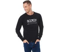 Sweatshirt mit Front-Print, Rippbündchen, für Herren, 0008 , M