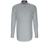 Business Hemd Custom Fit Langarm Button-Down-Kragen Karo 20
