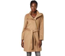 Mantel, Woll-Anteil, goldene Detail, Reißverchlu, für Damen,