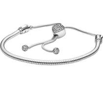"""Armband mit Pavé-Herz-Verschluss """"598699C01-2"""", 925er"""