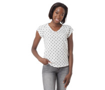 T-Shirt Allover-Print Henley-Ausschnitt