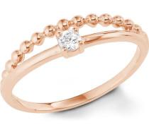 Ring 5er Silber rosévergoldet