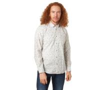 Freizeithemd reine Baumwolle Allover-Print Button-Down-Kragen