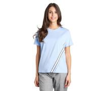 T-Shirt Baumwolle Rüschen Streifen