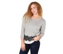 Shirt 3/4-Arm Spitzen-Besatz