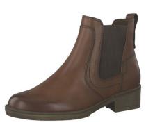 Chelsea Boots gestreifter Elastik-Einsatz Reißverschluss