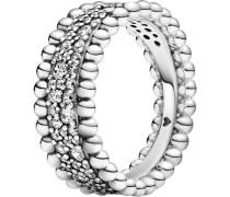 """Metallkugel Pavé Band-Ring """"198676C01"""", 925er , 56"""