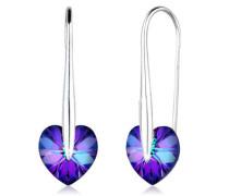 Ohrringe Herz Swarovski® Kristalle Liebe 5 Silber