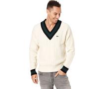 Pullover, V-Ausschnittusterstrickogo-Patch,