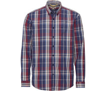 Casual-Hemd regular fit Langarm Button-Down-Kragen Karo blue SALE