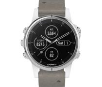 """Smartwatch fenix® 5S Plus Sapphire Weiß """"010-01987-05"""""""