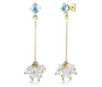 Ohrringe Hänger Geo Swarovski® Kristalle Beads 5 Silber