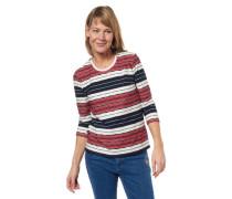 Shirt 3/4-Arm gestreift geometrische Muster