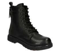 Boots, Nieten-Design, Reißverschlüsse, Zugband