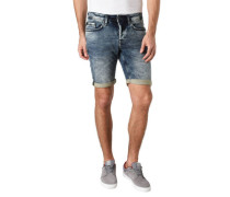 Jeans Shorts Slim Fit Waschung